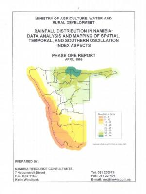 Rainfall Distribution in Namibia